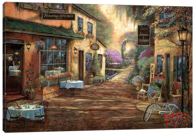 French Town Canvas Art Print
