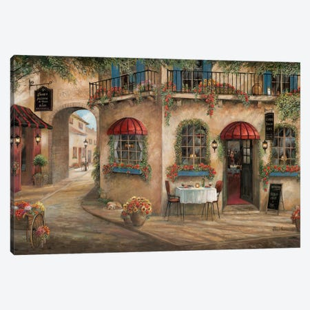 Gino's Pizzaria Canvas Print #RUA175} by Ruane Manning Canvas Art Print