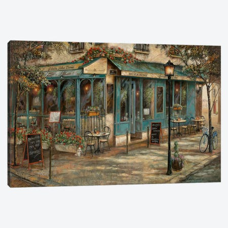 Jardin de Notre Dame Canvas Print #RUA177} by Ruane Manning Art Print