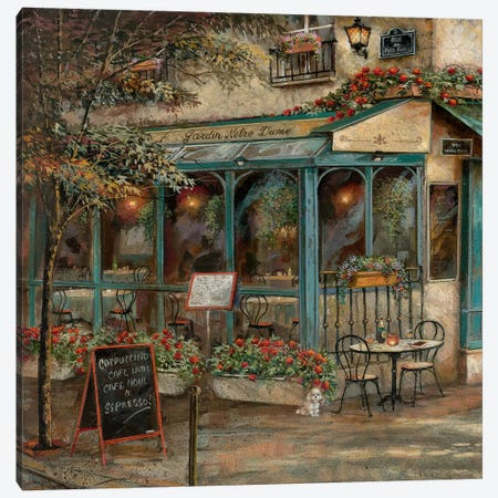 Jardin Notre Dame I Canvas Print #RUA178} by Ruane Manning Canvas Artwork