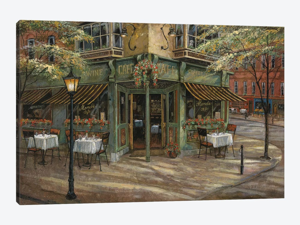 Mandi's Café by Ruane Manning 1-piece Canvas Print