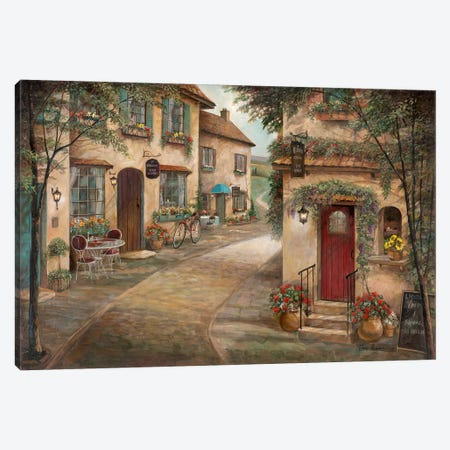 Quaint Café Canvas Print #RUA188} by Ruane Manning Art Print