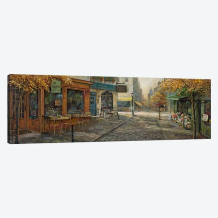 Quaint City Nostalgia Canvas Print #RUA189} by Ruane Manning Canvas Print