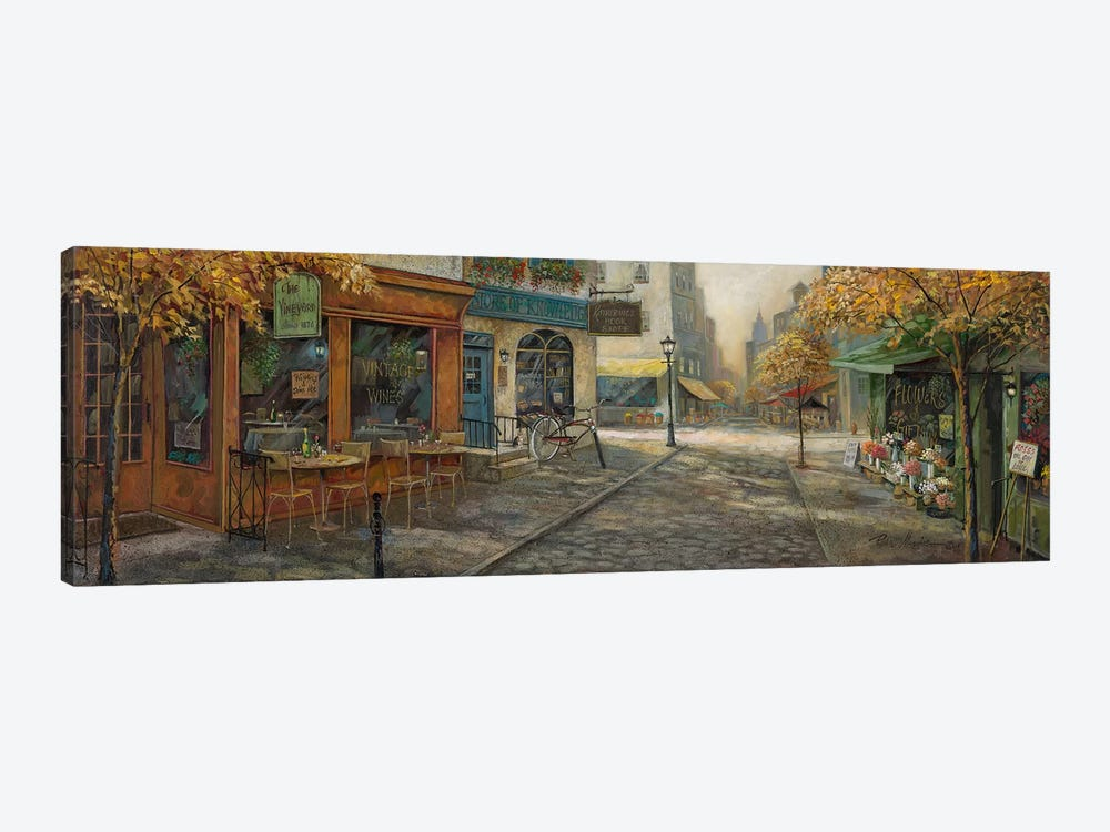 Quaint City Nostalgia by Ruane Manning 1-piece Canvas Art
