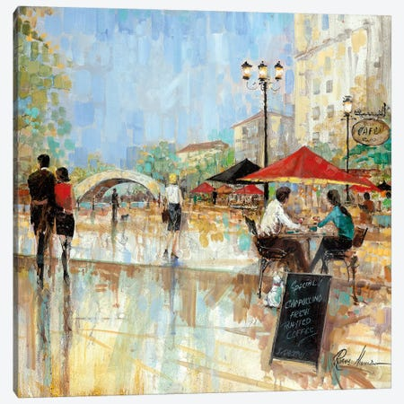 Riverwalk Charm III Canvas Print #RUA190} by Ruane Manning Canvas Wall Art