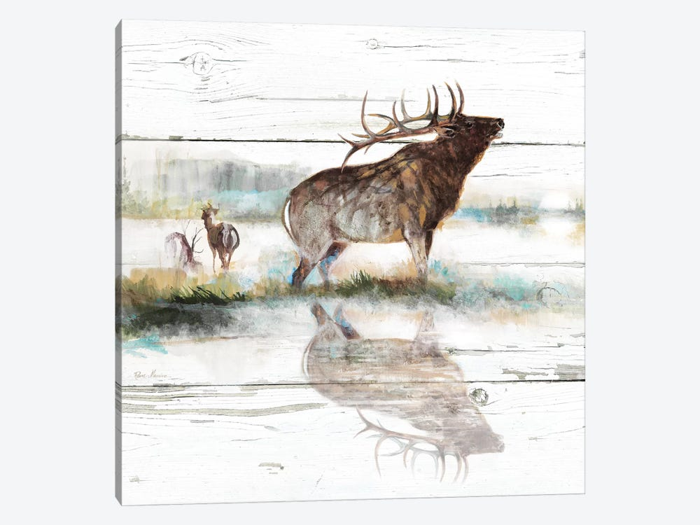 Rustic Misty Elk by Ruane Manning 1-piece Canvas Wall Art