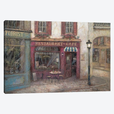 Table for Two Canvas Print #RUA196} by Ruane Manning Canvas Art Print