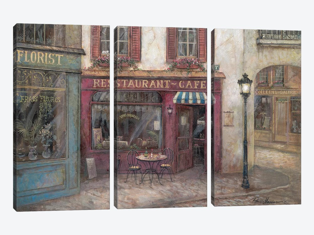 Table for Two by Ruane Manning 3-piece Canvas Wall Art