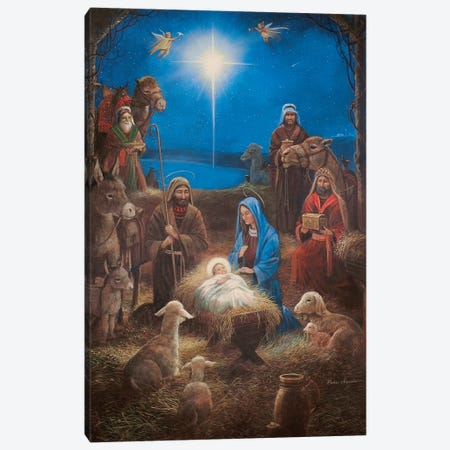 The Nativity Canvas Print #RUA197} by Ruane Manning Art Print