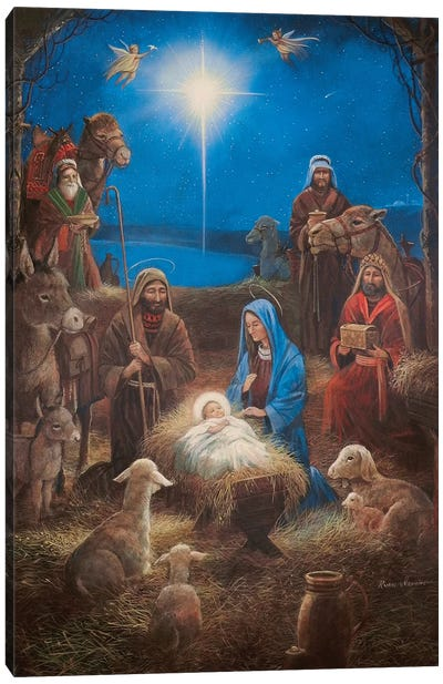 The Nativity Canvas Art Print