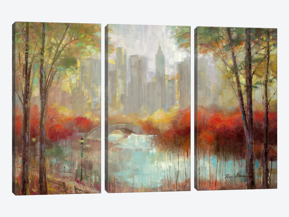 City View by Ruane Manning 3-piece Canvas Wall Art