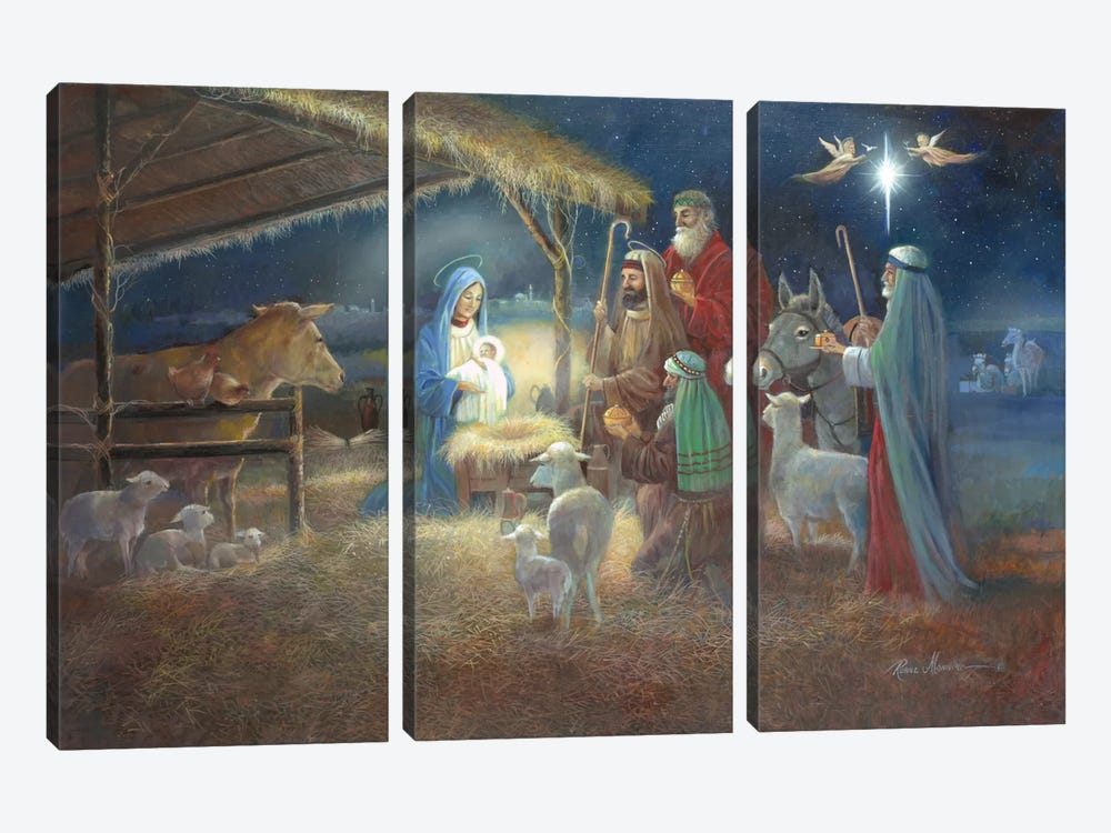 A Child Is Born by Ruane Manning 3-piece Canvas Art