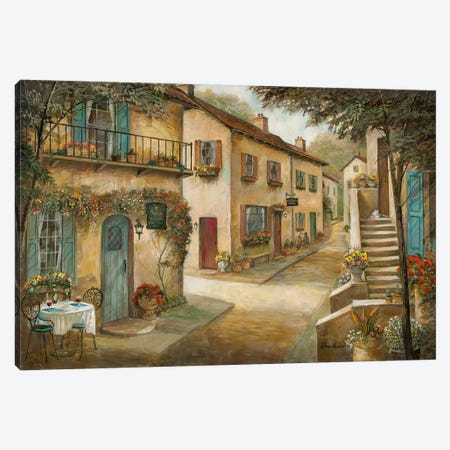 Village Charm & Serenity Canvas Print #RUA201} by Ruane Manning Canvas Art
