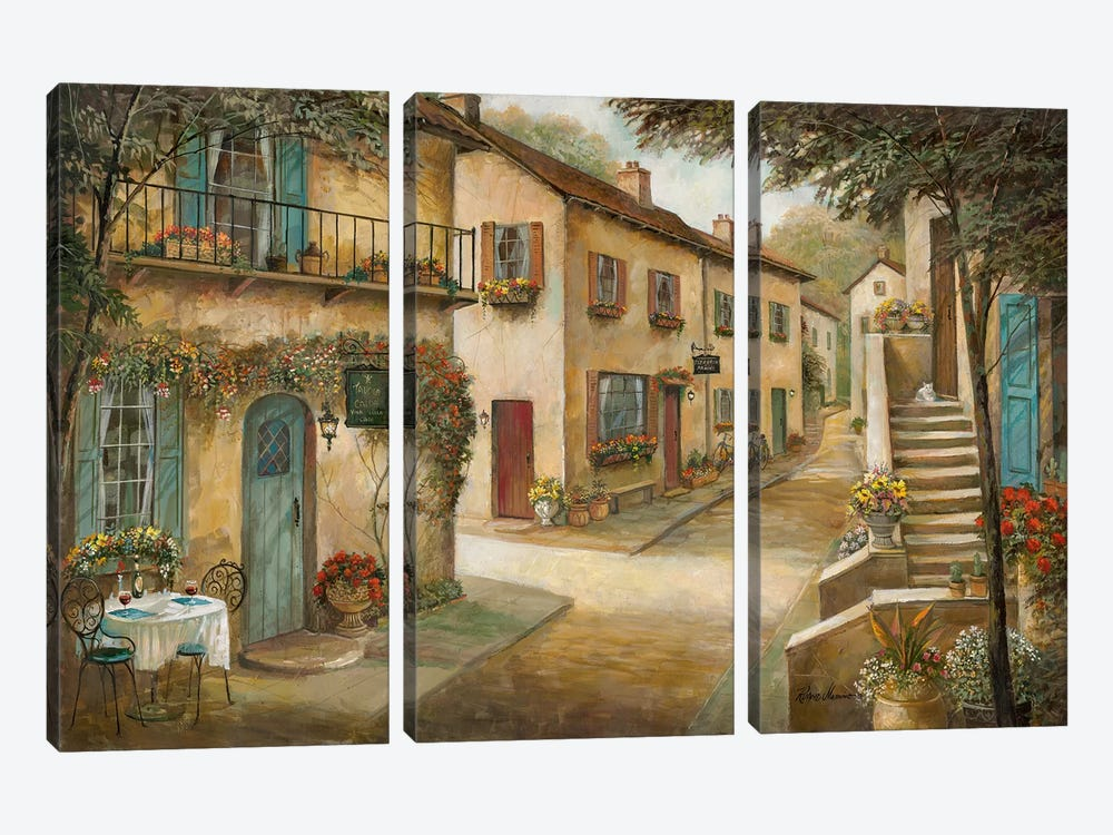 Village Charm & Serenity by Ruane Manning 3-piece Canvas Wall Art