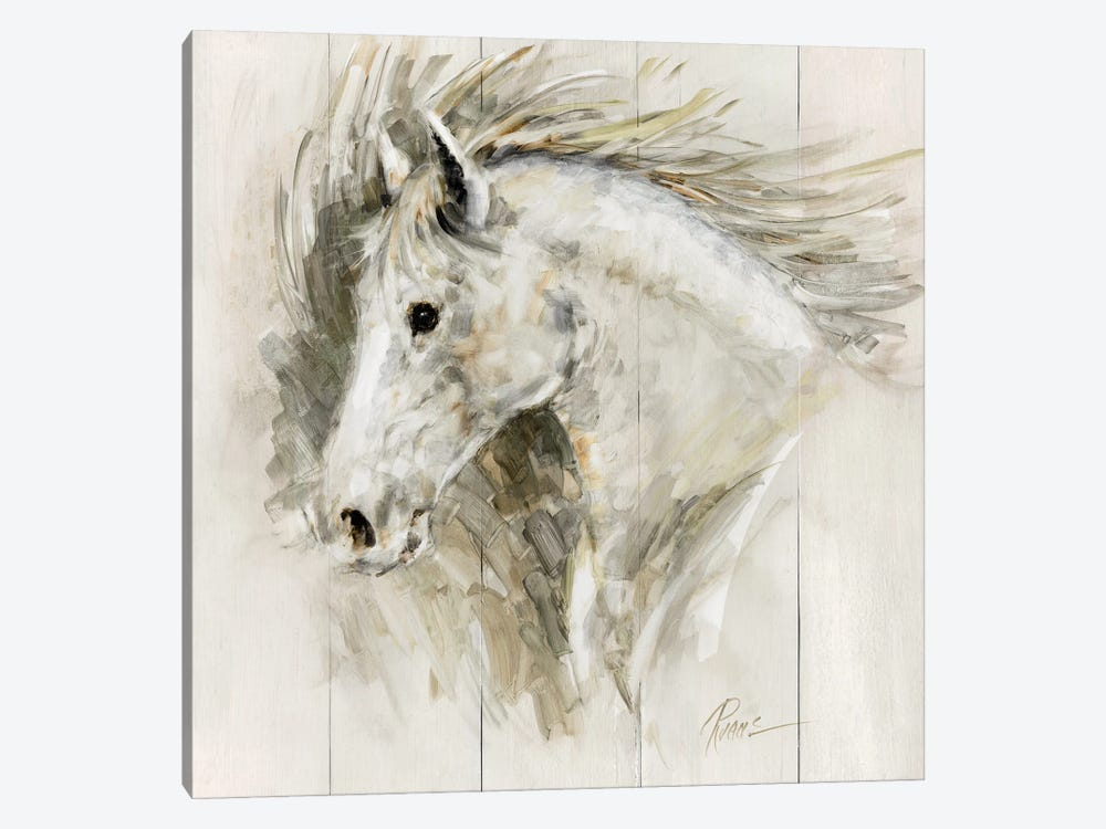 White Thunder by Ruane Manning 1-piece Canvas Art Print