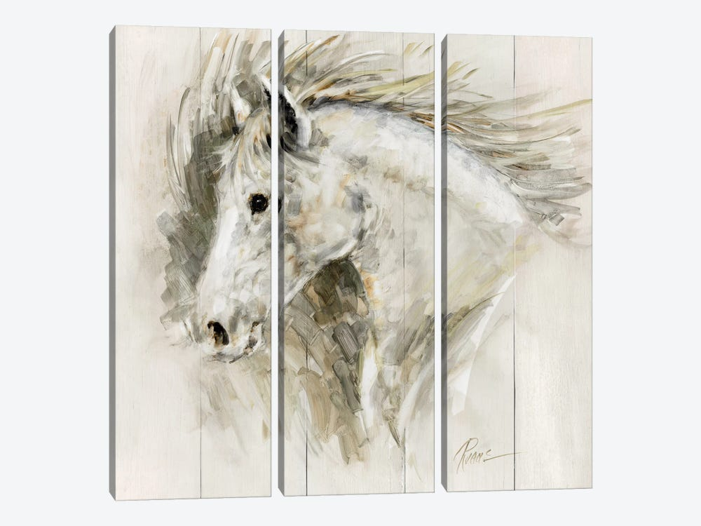White Thunder by Ruane Manning 3-piece Canvas Art Print