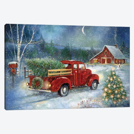 Christmas Delivery} by Ruane Manning Canvas Print
