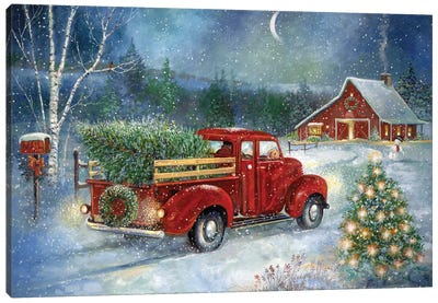 Christmas Delivery Canvas Art Print