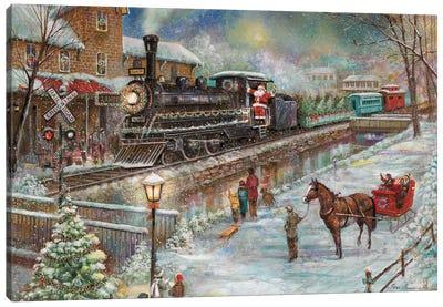 Christmas Train Canvas Art Print