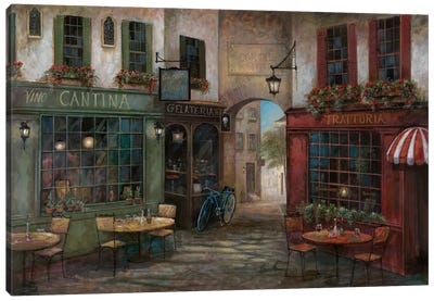 Courtyard Ambiance Canvas Art Print