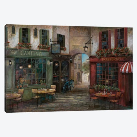 Courtyard Ambiance 3-Piece Canvas #RUA20} by Ruane Manning Canvas Art Print