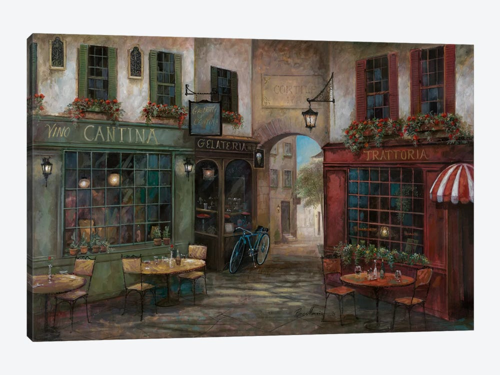 Courtyard Ambiance by Ruane Manning 1-piece Canvas Art