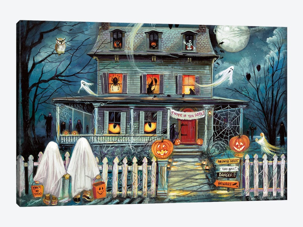 Enter if You Dare by Ruane Manning 1-piece Canvas Wall Art