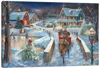 Evening Sleigh Bells Canvas Art Print