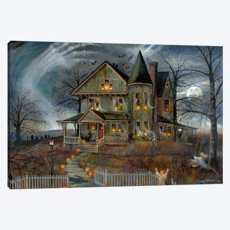Haunted House Canvas Print #RUA212} by Ruane Manning Canvas Print