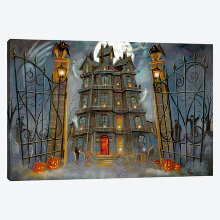 Haunted Mansion Canvas Print #RUA213} by Ruane Manning Canvas Print