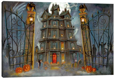 Haunted Mansion Canvas Art Print