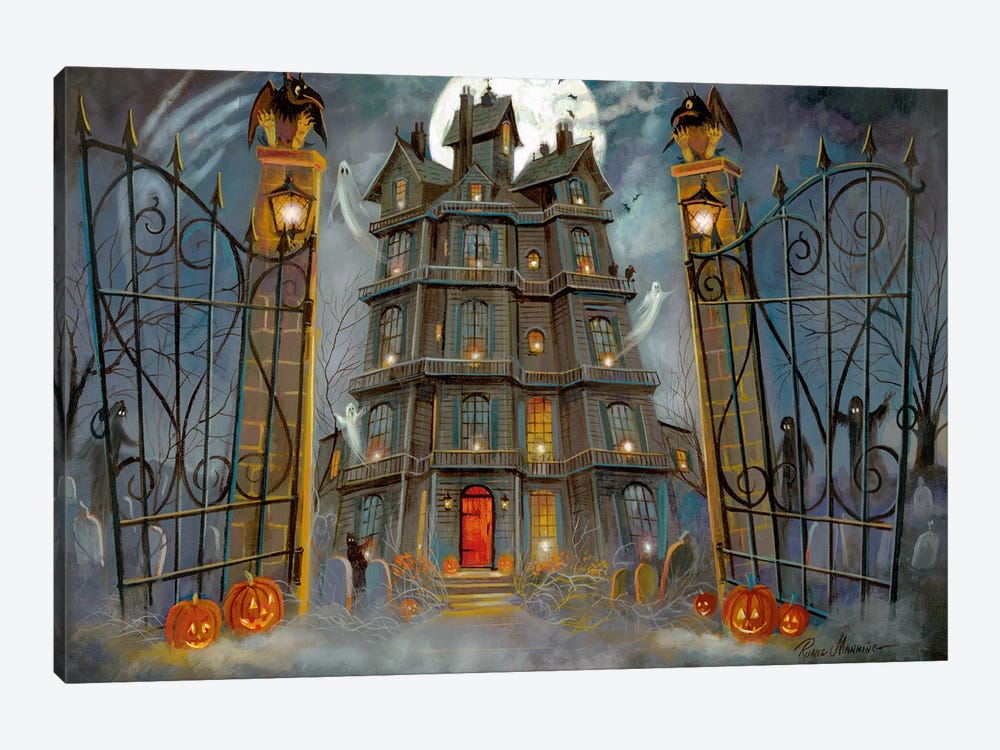 Haunted Mansion by Ruane Manning 1-piece Canvas Art Print