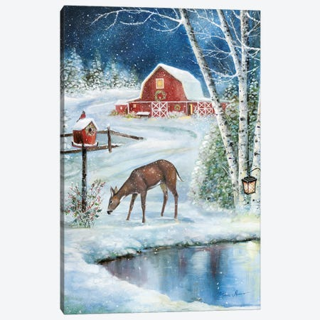 Holiday Skating Canvas Print #RUA215} by Ruane Manning Canvas Wall Art