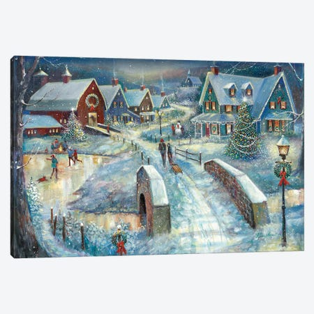 Home for the Holidays Canvas Print #RUA216} by Ruane Manning Canvas Art