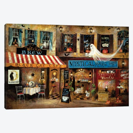 Mystical Magic Shop Canvas Print #RUA217} by Ruane Manning Canvas Wall Art