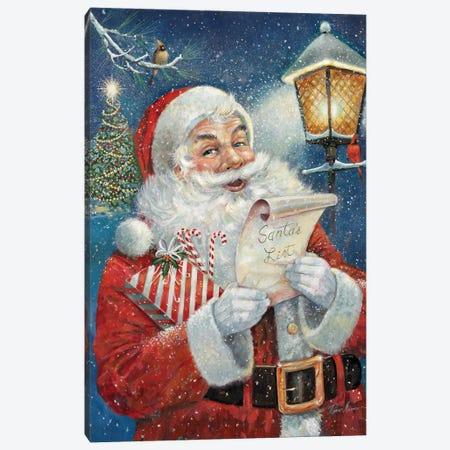 Santa's List Canvas Print #RUA218} by Ruane Manning Canvas Art Print