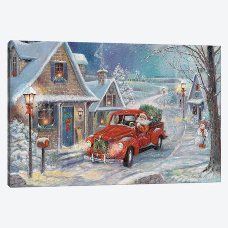 Santa's Tree Farm 3-Piece Canvas #RUA219} by Ruane Manning Canvas Art Print