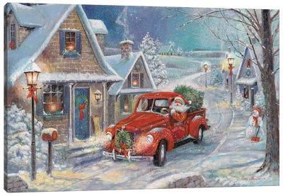Santa's Tree Farm Canvas Art Print
