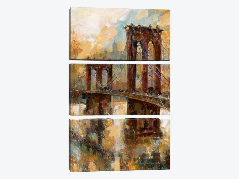 Crossing Meadows by Ruane Manning 3-piece Canvas Print
