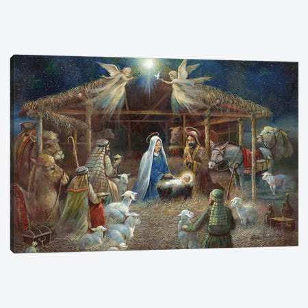 The Nativity Canvas Print #RUA222} by Ruane Manning Canvas Artwork