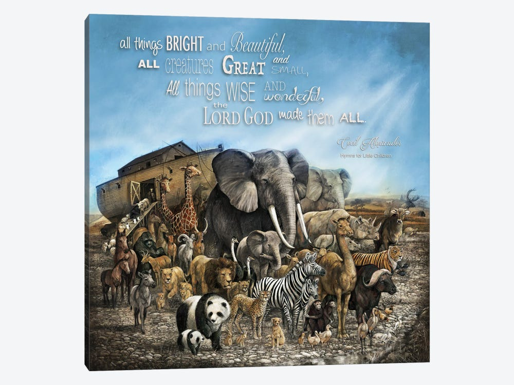 All Things Bright and Beautiful by Ruane Manning 1-piece Canvas Artwork