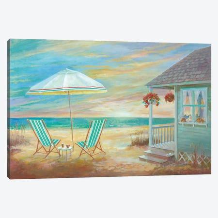 Beach Cottage Canvas Print #RUA233} by Ruane Manning Canvas Print