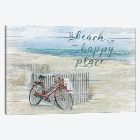 Beach Happy Place Canvas Print #RUA234} by Ruane Manning Canvas Artwork
