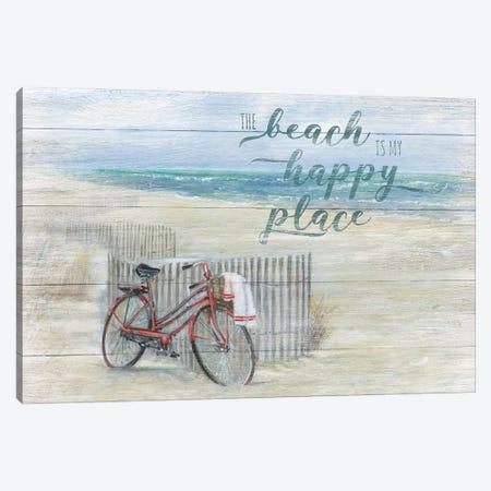 Beach Happy Place Canvas Print #RUA234} by Ruane Manning Canvas Artwork