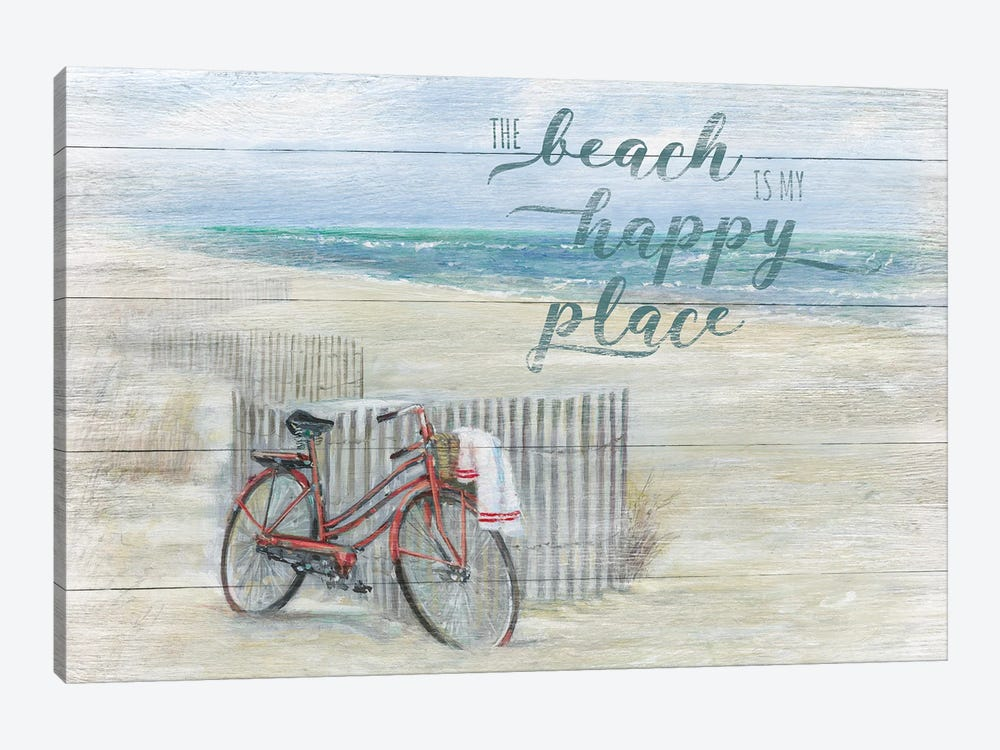 Beach Happy Place by Ruane Manning 1-piece Canvas Artwork