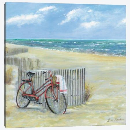 Bike to the Beach Canvas Print #RUA236} by Ruane Manning Canvas Wall Art