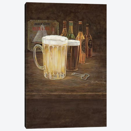 Dockside Beer Canvas Print #RUA23} by Ruane Manning Canvas Print