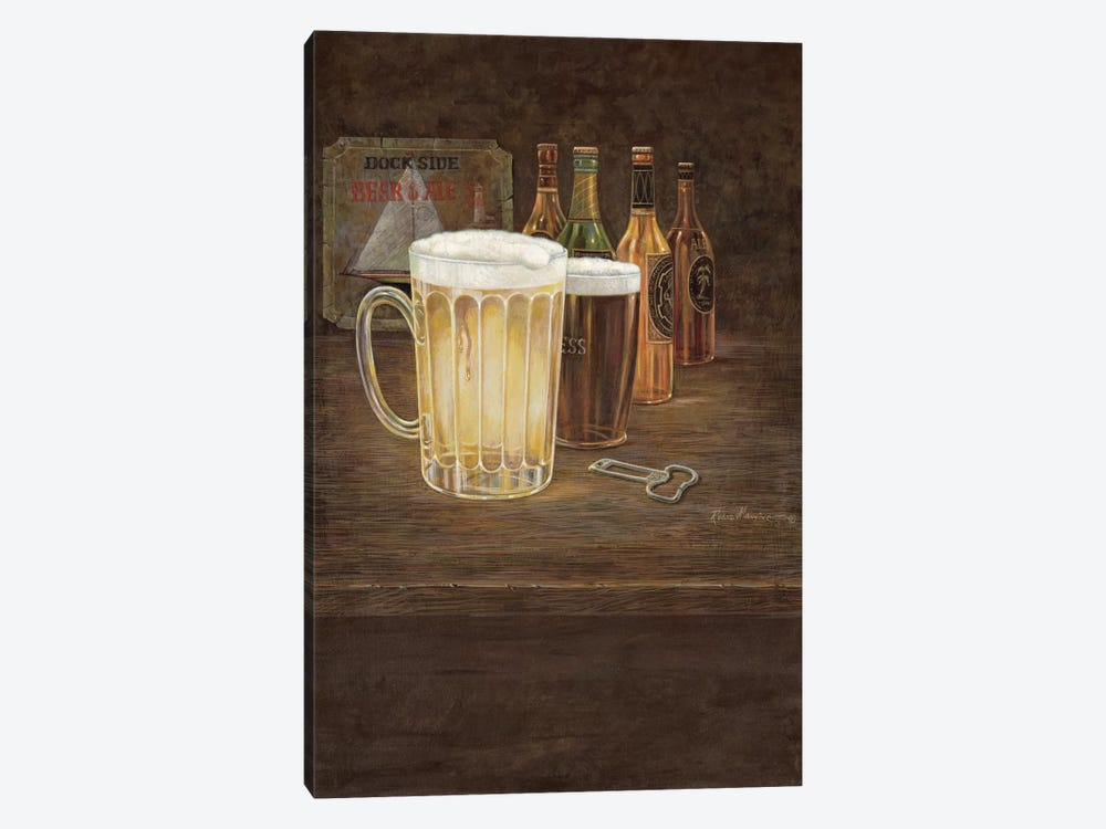Dockside Beer by Ruane Manning 1-piece Canvas Art Print