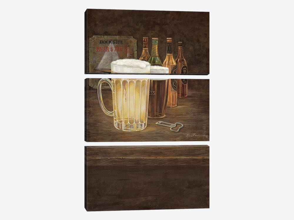 Dockside Beer by Ruane Manning 3-piece Canvas Print