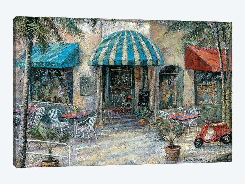 Christine's South Beach Café by Ruane Manning 1-piece Canvas Artwork